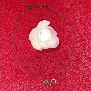 Three Ring Copper Tone Necklace